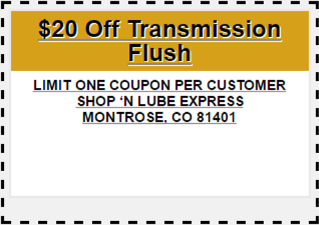 oil change coupons montrose co